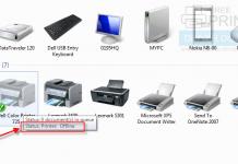 printer says offline