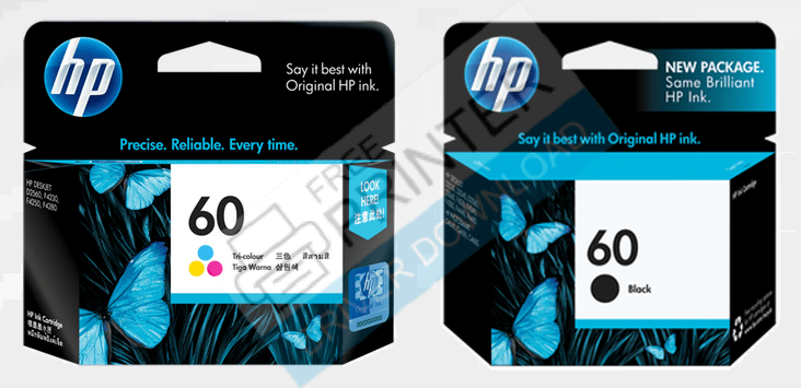 hp deskjet d1660 Ink Cartridge Number 60