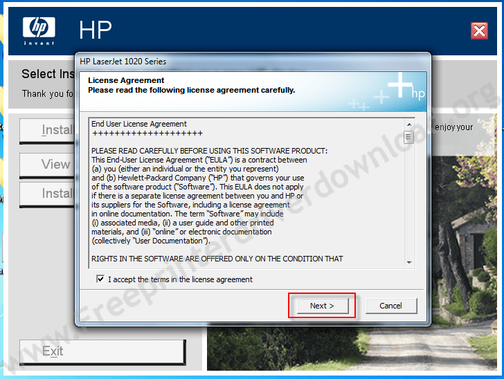 How to install hp laserjet 1020 step 4