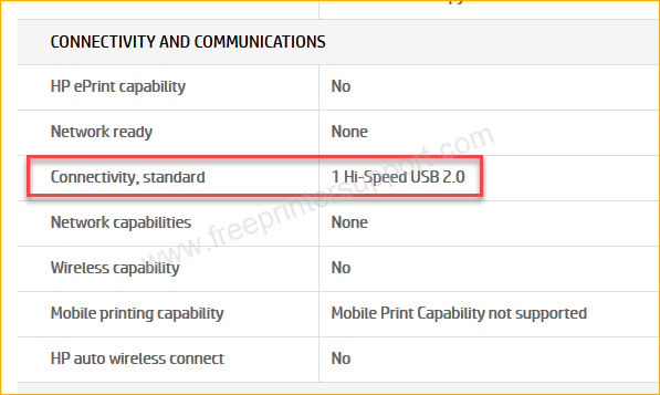 hp 2131 specification