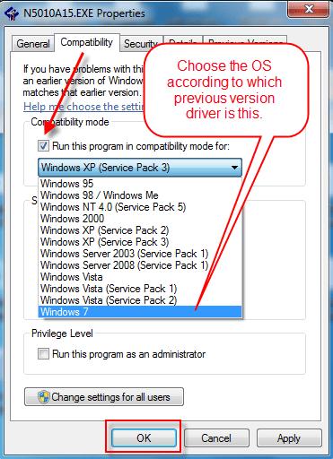 Dell v313 windows 10 install in compatibility mode