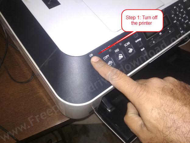 turn off the printer to apply power drain