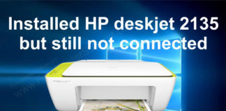 HP deskjet 2135 installation problem