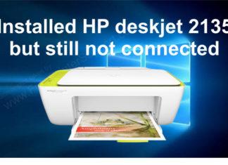 HP deskjet 2135 installation problem