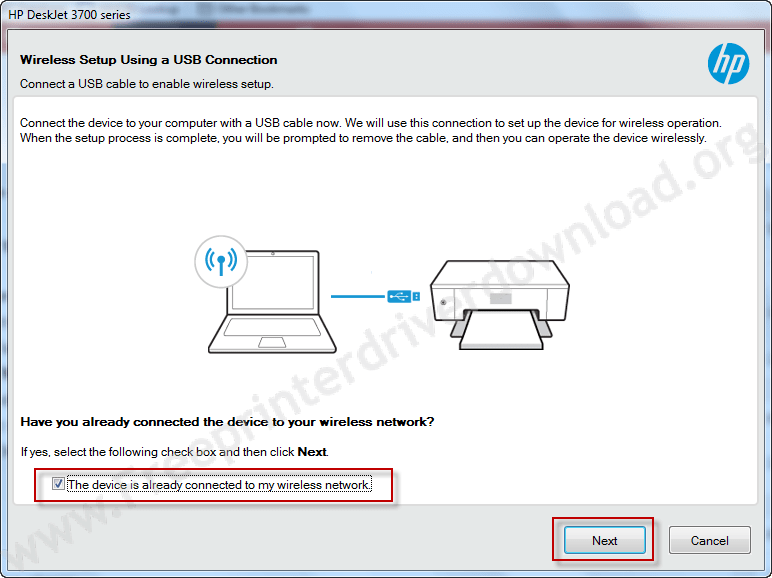 HP deskjet 3755 installation step 8