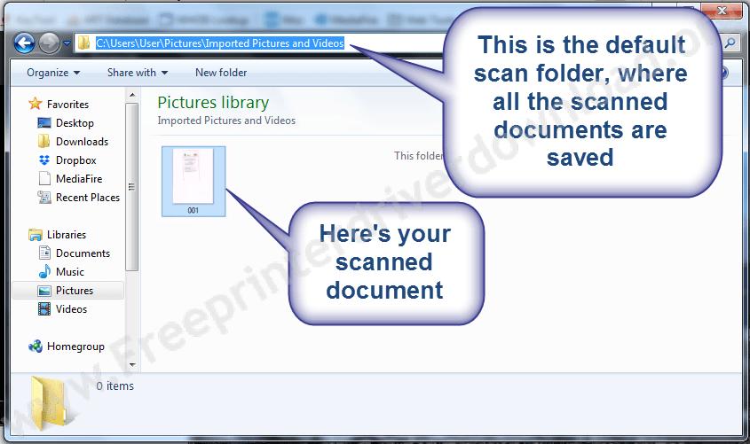 Scanned default Location