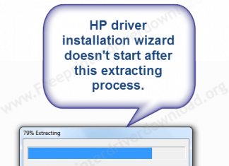 hp driver setup file is not starting