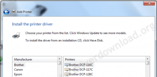 printer driver install through Windows update step5