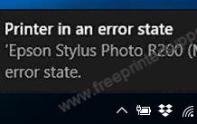 printer in an error state