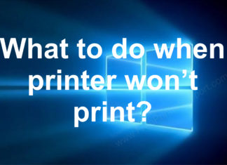 fix printer wont print