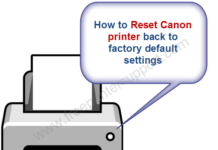 canon printer reset