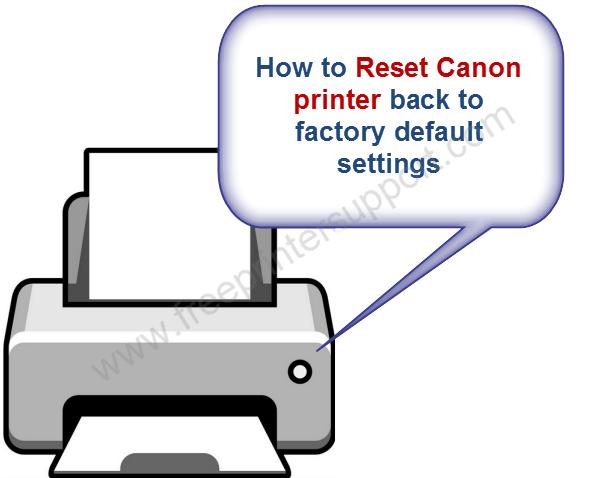 canon printer reset