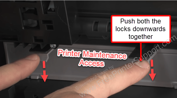 pull out papare from printer rear
