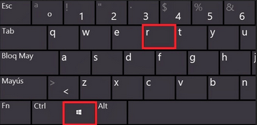 windows and r key together
