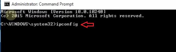 type ipconfig