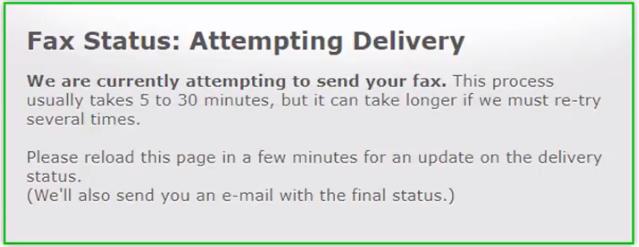 fax status