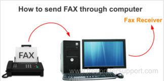 Fax through computer