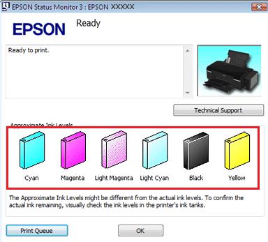 Epson ink level