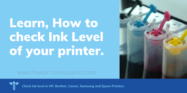 how to check printer ink level