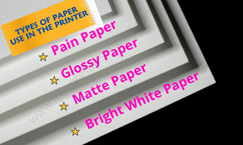 types of paper use in the printer