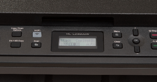 lcd display of Brother L2390DW
