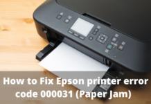 fix error code 000031 paper jam